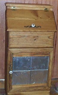 Potatoe Bin Vegatable Solid Hardwood Tin Door Kitchen Decor USA made