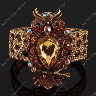 Owl Night Bird Stretch Elastic Fashion Jewel Bracelet Bangle