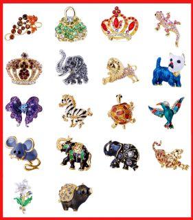 Fashion Costume Brooch Pin Cute Alloy Rhinestone Party Jewelry W22948