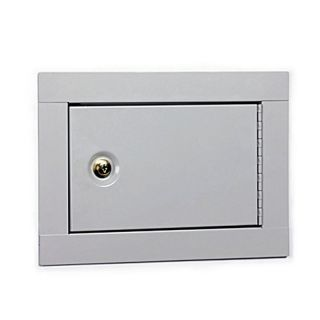 Home Office In Wall Metal Jewerly Cash Pistol Gun Safe Box Cabinet w