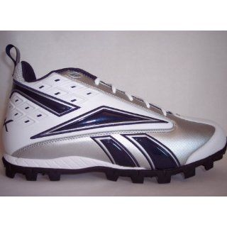 Reebok Pro Thorpe II Mid At Cleats Football Shoes 14 White