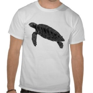 Sea Turtle Drawing Tee Shirts