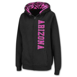Arizona Wildcats Full Zip NCAA Womens Hoodie Black