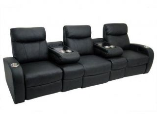 Eipal Leather Home Theater Sectional
