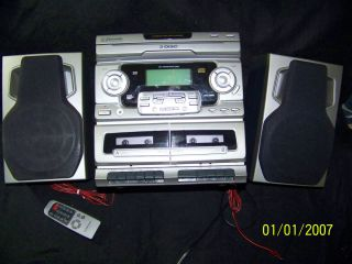 Changer Dual Cassette Recorder Home Stereo System with Remote
