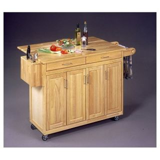 Home Styles Wood Top Kitchen Island Cart 5023 95