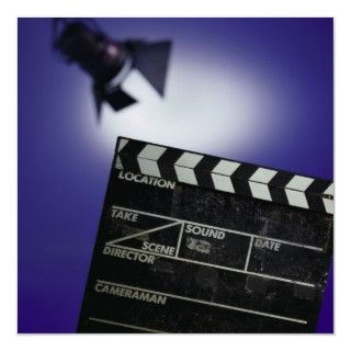 Directors Slate & Stage Light   Color PhotoPrinted on posters, office