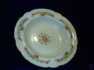 Homer Laughlin Vintage Flower Pattern Serving Bowl