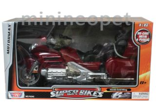 Motormax Honda Goldwing GL 1800 Bike Motorcycle 1 6 Red