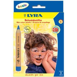 Face Painting Pencils 6/Pkg Basic: Office Products