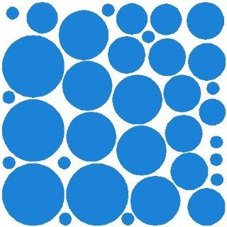 34 OLYMPIC BLUE POLKA DOTS.WALL STICKERS ART DECOR