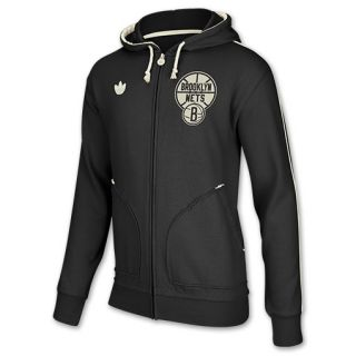 adidas Brooklyn Nets Pre Game NBA Mens Full Zip Hoodie