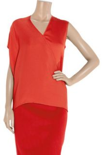 Zero+MariaCornejo Nya asymmetric stretch silk top   55% Off