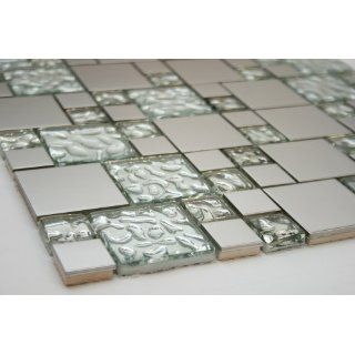 Silver Sainless Seel Meal Square ile 2x2, 1x1 + Silver Glass