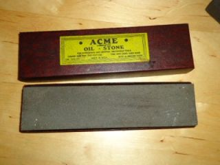 Vintage Oil Stones Acme Knife Tool Sharpening Bars Blade Razor Hone