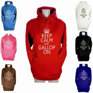 Calm and Gallop on Canter Hoodies Pony Horse Riding Size XS XL