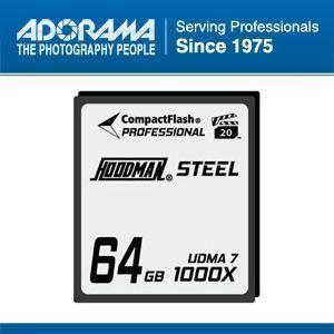 Hoodman RAW Steel Class 7 64GB CompactFlash Card, 1000x High Speed #