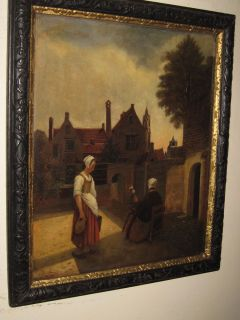 MASTER OIL PAINTING follower of Pieter de Hooch 1629 1684 Golden Age