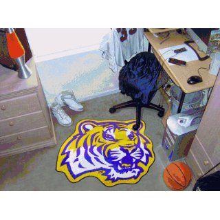 Louisiana State University Tiger Head   Mascot Mat   Cut