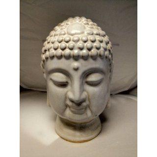 6.3*6.5*9.5 Inch Buddha Head Face Statue Home Yard Garden