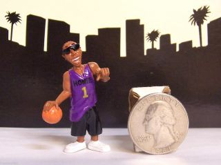 Homies Series 6 Gangsta Hoopa Black Basketball Player Figure Figurine