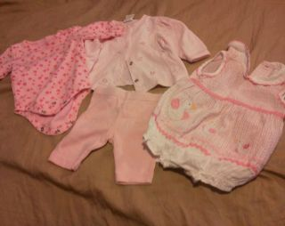 Baby Girls Clothes Carseat Cover Mix Size 0 3 Months Lot 01