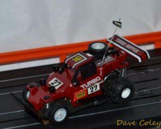 RARE Tyco AFX Tomy Turbo Hopper No 27 Deep Red HO Slot Car Micro