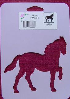 Stencil Horse Paint Chalk Cards kids crafts Mare Colt Stallion Race