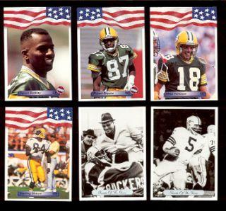 Packers Set Sterling Sharpe Paul Hornung Vince Lombardi Brooks