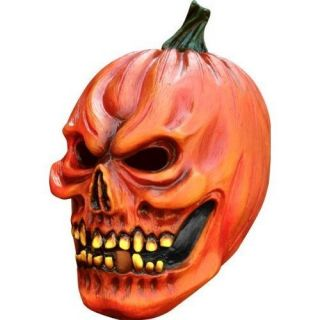 Adult Scary Pumpkin Mask Halloween Mask Mens Fancy Dress Costume New