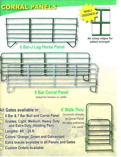 Corral Panel 6 Bar New Horse Arena Round Pens Feeders Farm Gates