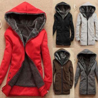 Cute Korean Hoodie Fleeces Top Coat Women Lady Outerwear Autumn Winter