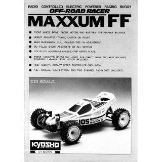 Kyosho MAXXUM FF 1/10 electric buggy instruction manual #3127 Kyosho