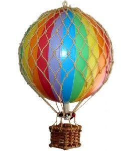Small Model Hot Air Balloon Rainbow