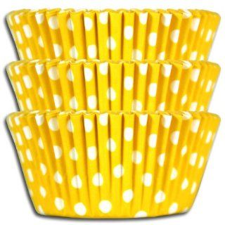 Yellow Polka Dot Baking Cups, Greaseproof 1000 Pack