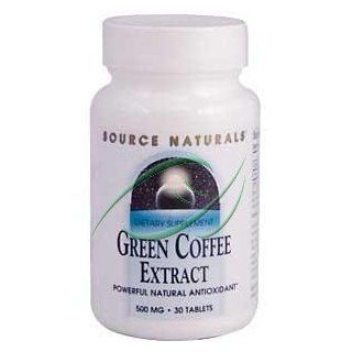 Green Coffee Extract, 500 mg, 30 Tablets, From Source