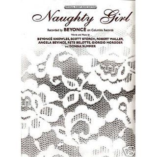Sheet Music  Naughty Girl  Beyonce #81: Everything Else