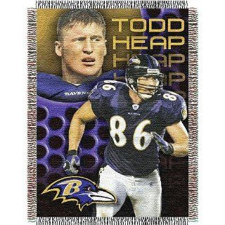 Todd Heap #81 Baltimore Ravens NFL Woven Tapestry Throw