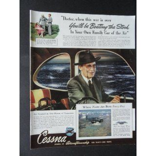 Cessna airplane, full page prin ad. 10 1/2 x 13 1/2
