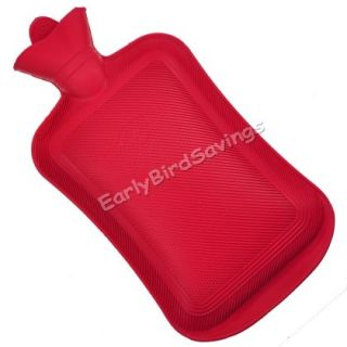 Large Hot Water Bottle Rubber Bag Hand Warmer 2 Litre 2000ml 2L