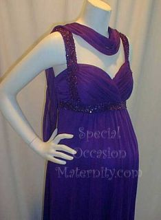 Beaded Maternity Gown Large Bridal Wedding Formal Evening Sexy