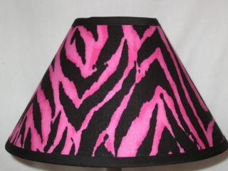 Hot Pink and Black Zebra Lamp Shade