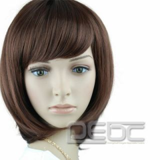 2012 Hot Short Wig Fashion Women Lady Cosplay Party Brown Beauty Wave