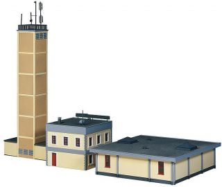HO Scale Fire Station 3 Stall Fire House with Training Tower Sound Kit