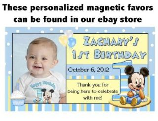 Baby Mickey Mouse 1st Birthday Invitations Design