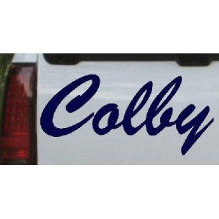 Navy 34in X 16.2in    Colby Names Car Window Wall Laptop Decal Sticker