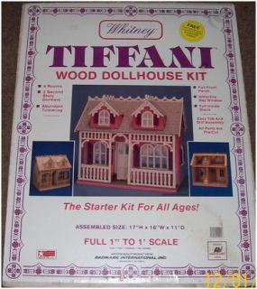 Very RARE Whitney Tiffani Miniature Wood Doll House Kit