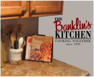 Cooking Since Vinyl Lettering Wall Decals Your Name House Decor