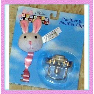 Lee Middleton Dolls 1359 Bunny Pacifier Clip: Toys & Games
