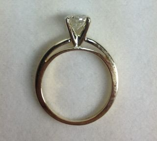 Ct Round Cut Diamond Solitaire Engagement Ring 14k Yellow Gold